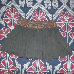 Sz S Free People Gray Skirt with Beaded Waist